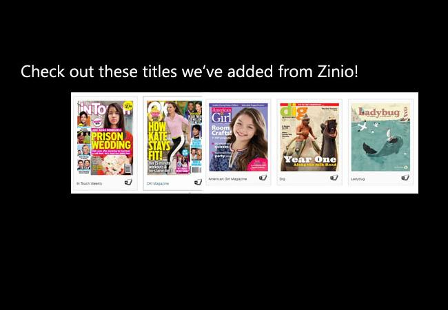 Check out these Titles from Zinio