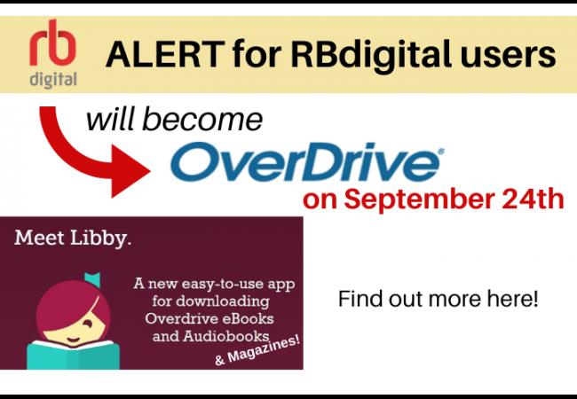 RBdigital alert for migration