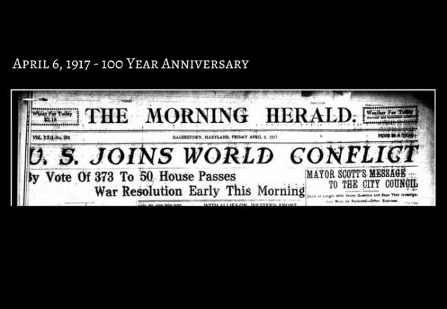 US Declares war on Germany - 100 Year Anniversary