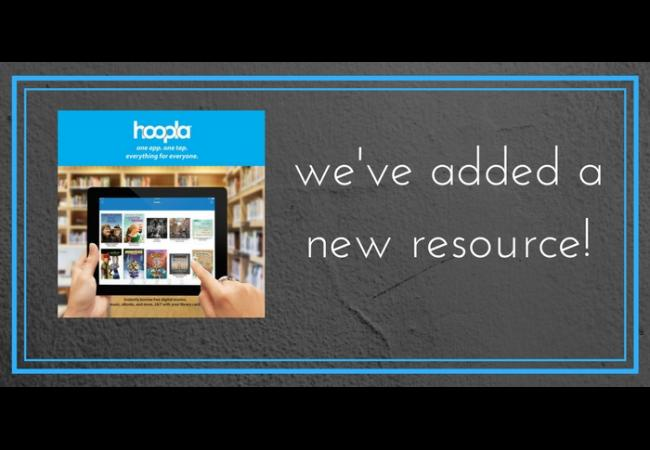 we've added a new resource - hoopla digital