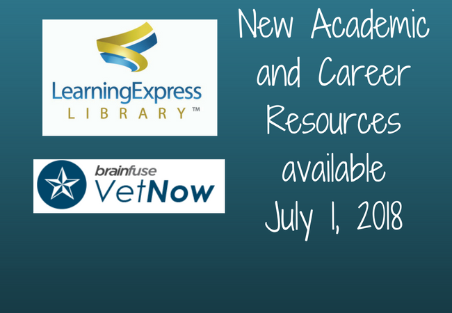 New Database Resources - Learning Express & VetNow